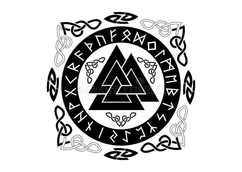 Illustration för NorseValknut vektor royaltyfri bild