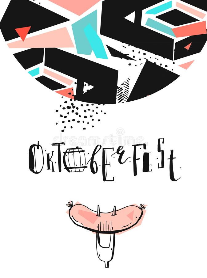 Illustration för Octoberfest ferievektor royaltyfri illustrationer
