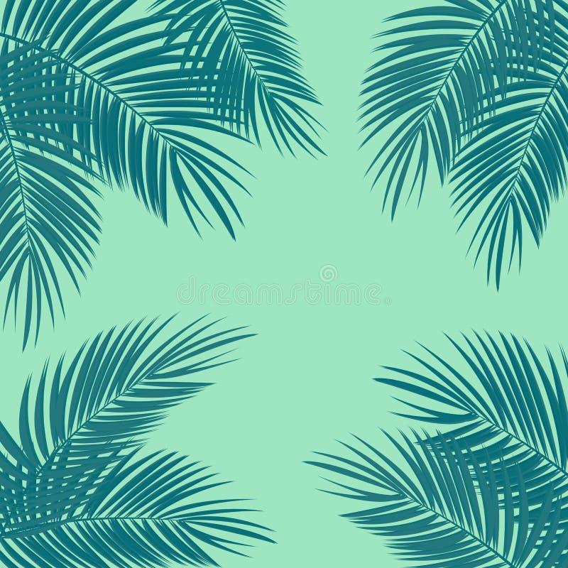 Illustration för palmbladvektorbakgrund royaltyfri illustrationer
