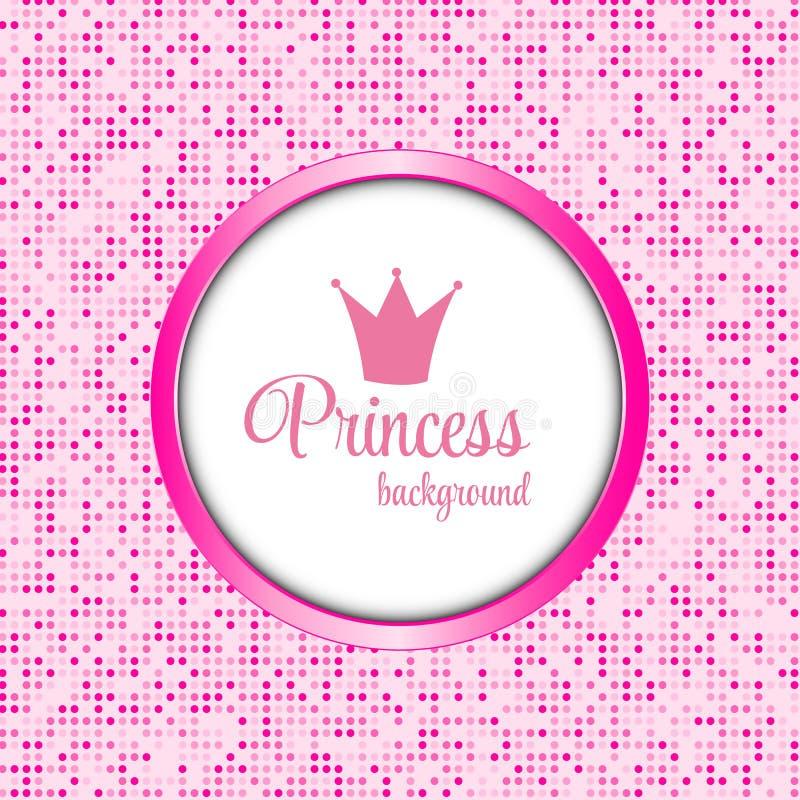 Illustration för prinsessa Crown Frame Vector vektor illustrationer