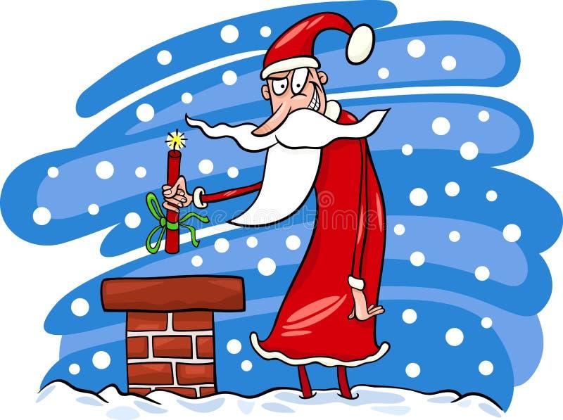 Illustration för Santa Claus tecknad filmjul royaltyfri illustrationer