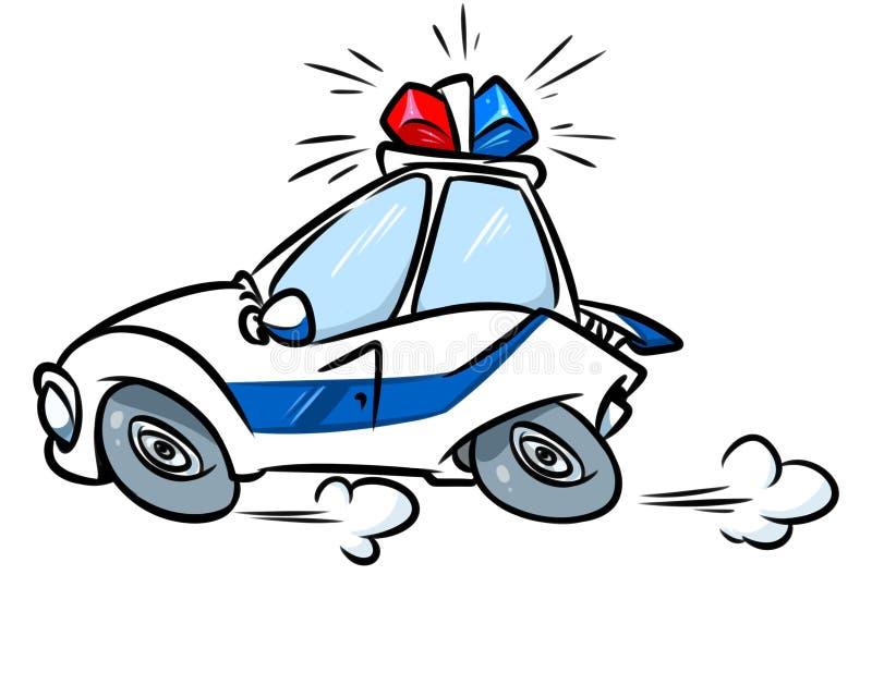 Illustration för siren för tecknad filmpolisbil royaltyfri illustrationer