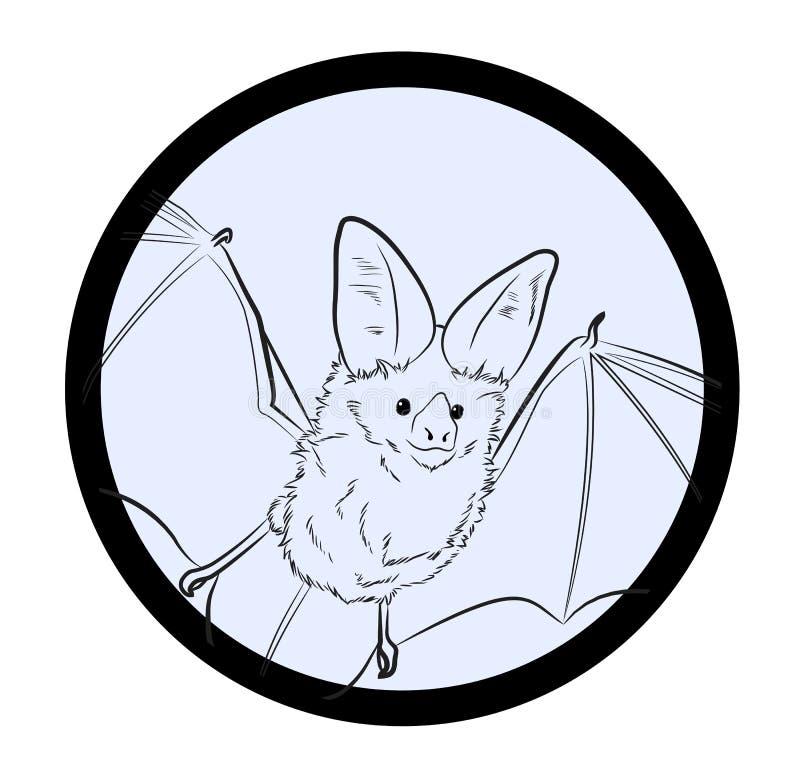 Illustration för slagträteckningsvektor vektor illustrationer