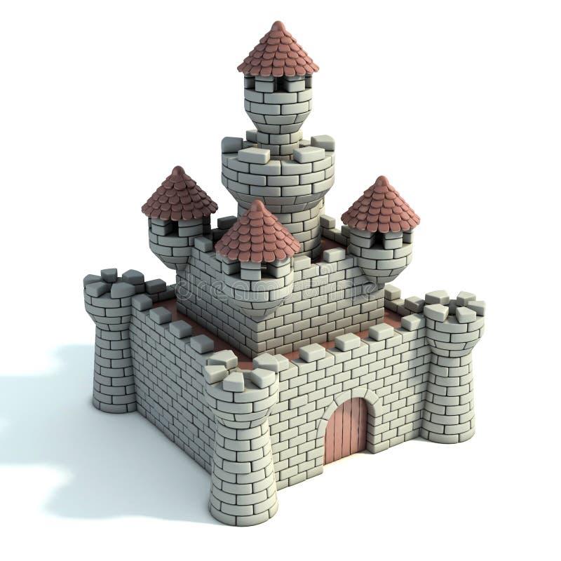 Illustration för slott 3d vektor illustrationer