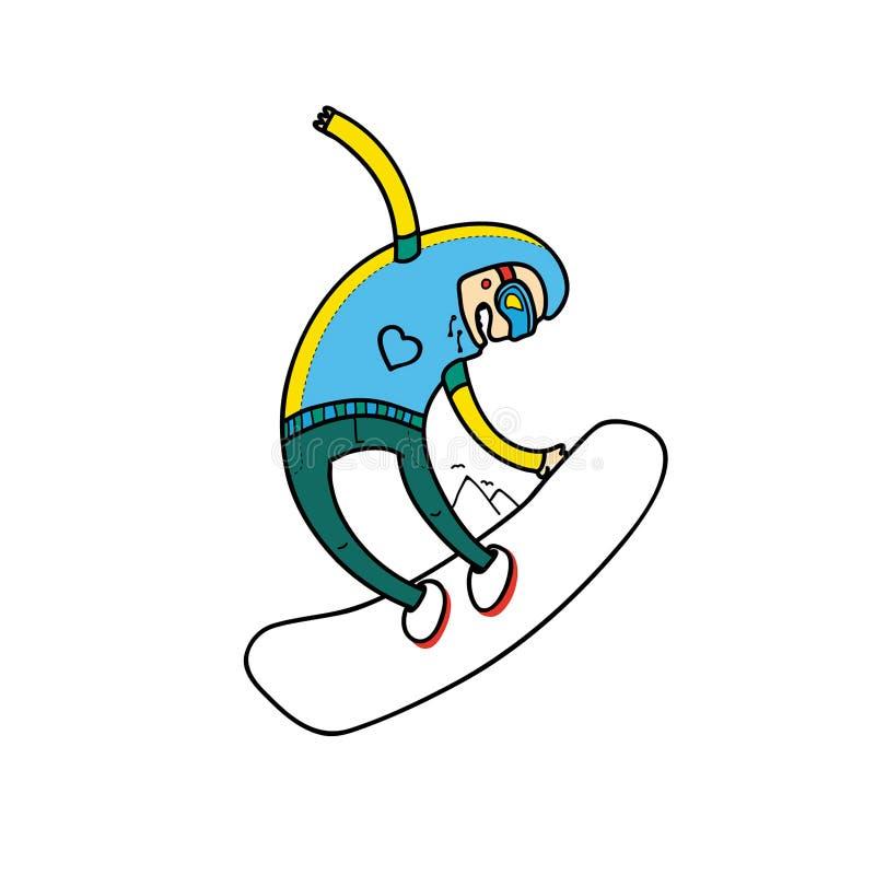 Illustration för snowboarding för vektorvintersport Du kan tillfoga ditt vektor illustrationer