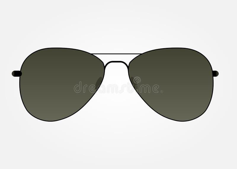 Illustration för solglasögonsymbolsvektor stock illustrationer