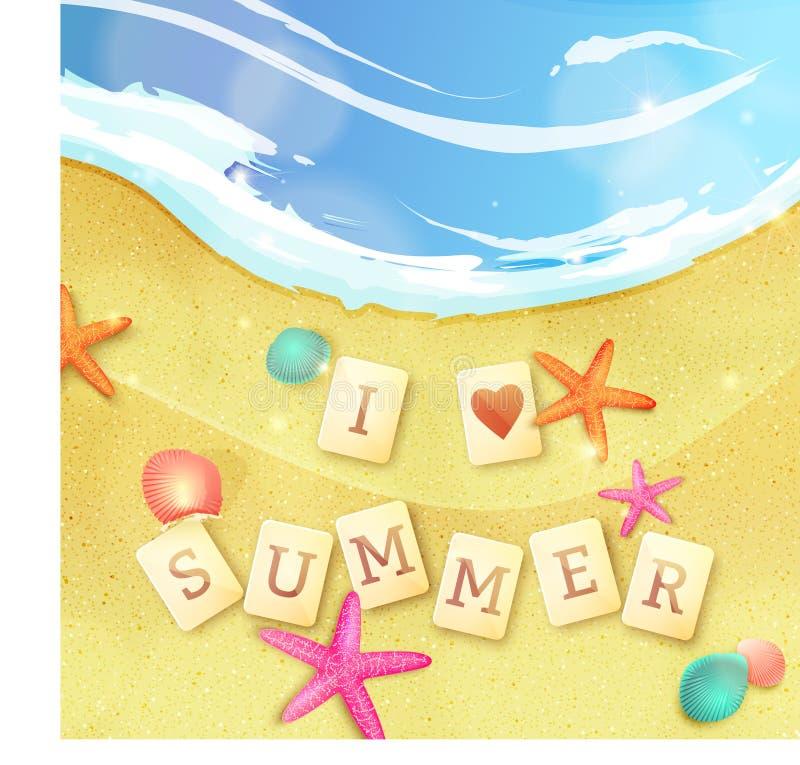 Illustration för sommarferier vektor vektor illustrationer