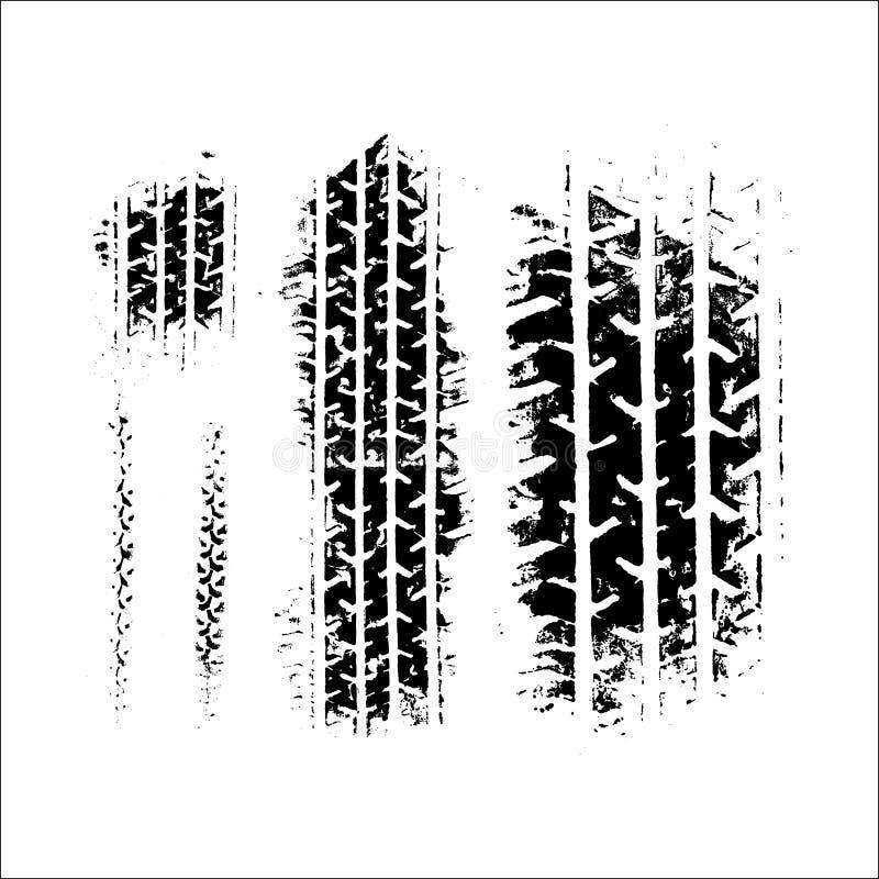 Illustration för spårgummihjulvektor royaltyfri illustrationer