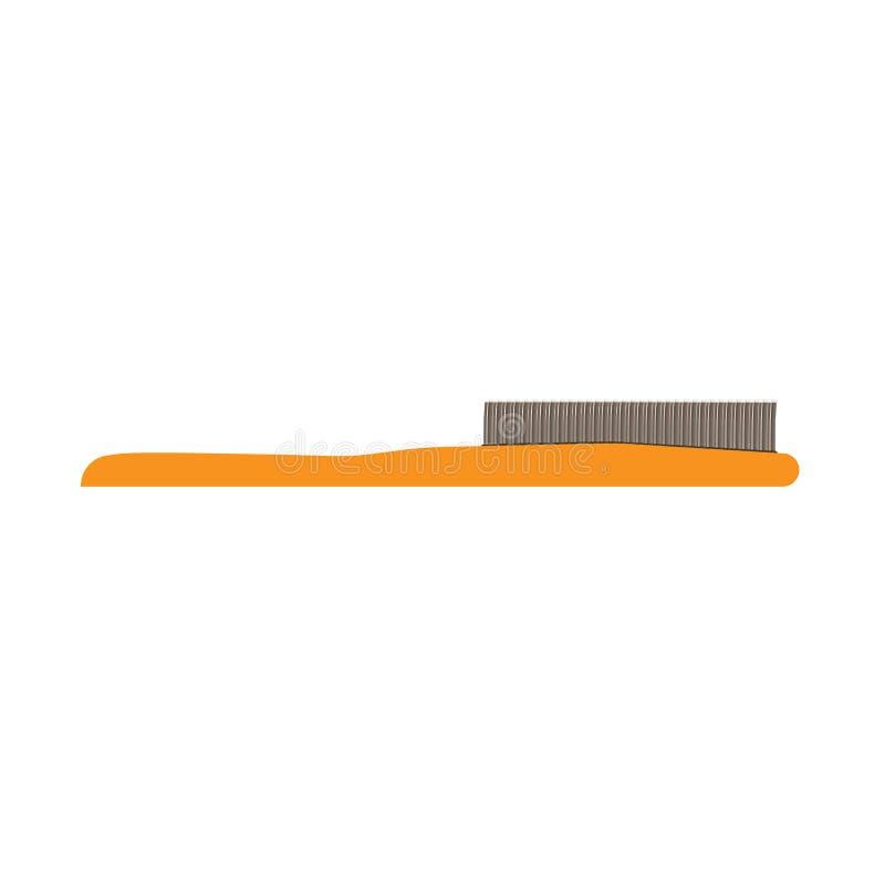 Illustration för stil för symbol för borste för hårkam för hårborstehårvektor Isolatated royaltyfri illustrationer