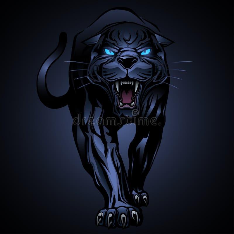 Illustration för svart panter stock illustrationer