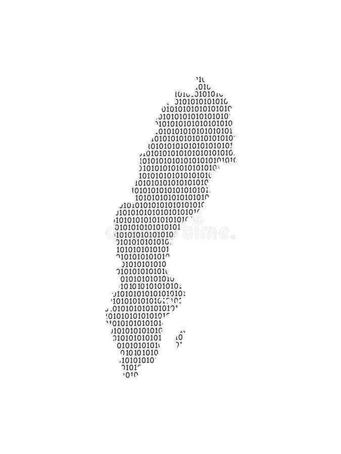 Illustration för Sverige vektoröversikt genom att använda binära siffror eller nummer på ljus bakgrund för att betyda det digital stock illustrationer