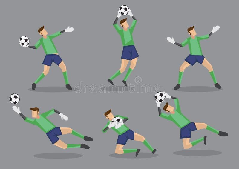 Illustration för symbol för fotbollmålvaktvektor royaltyfri illustrationer