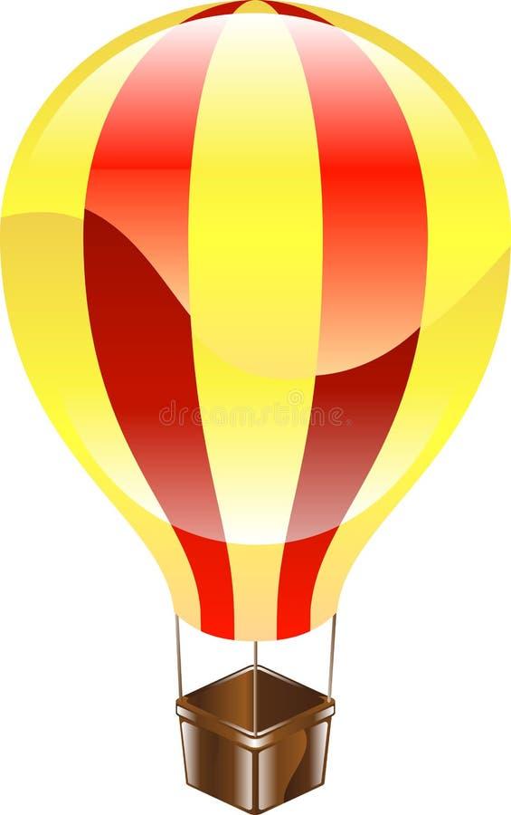 illustration för symbol för luftballong blank varm stock illustrationer