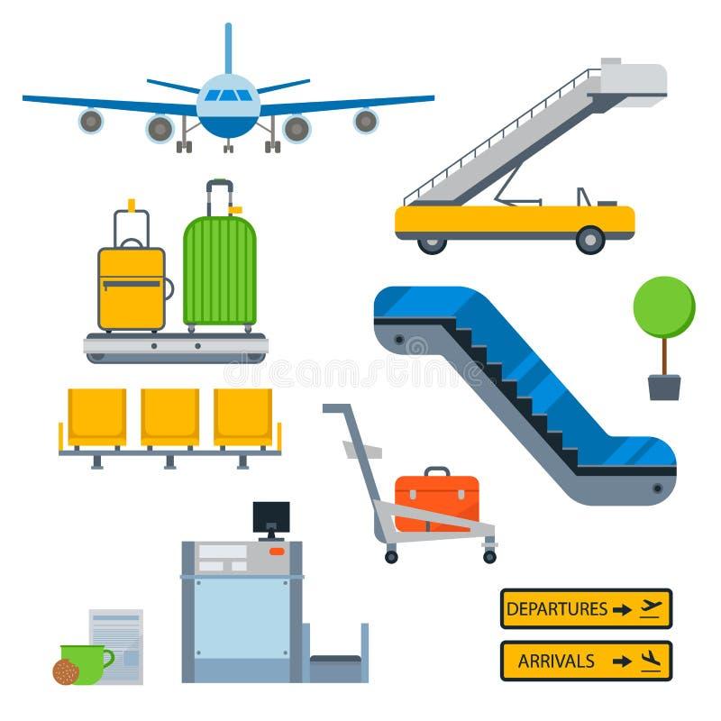 Illustration för symbol för lopp för fluga för trans. för flygplats för flygplan för flygbolag för flygsymbolsvektor grafisk stock illustrationer