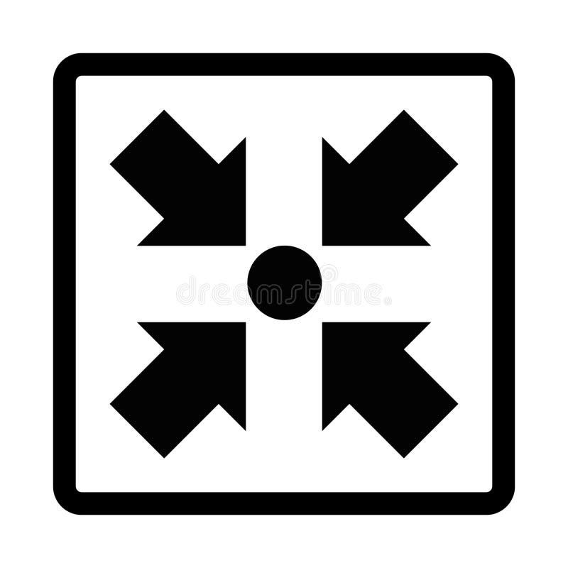 Illustration för symbol för mötepunkt vektor illustrationer