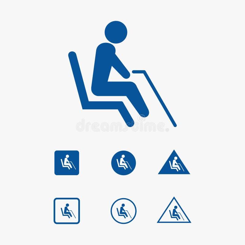 Illustration för symbol för prioritetsplats för morförälder vektor illustrationer