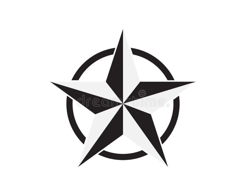 Illustration för symbol för stjärnaLogo Template vektor royaltyfri illustrationer