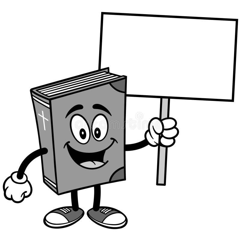 Illustration för tecken för bibelskolamaskot vektor illustrationer