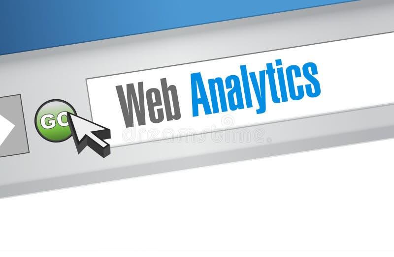 Illustration för tecken för webbläsare för rengöringsdukanalyticsinternet stock illustrationer