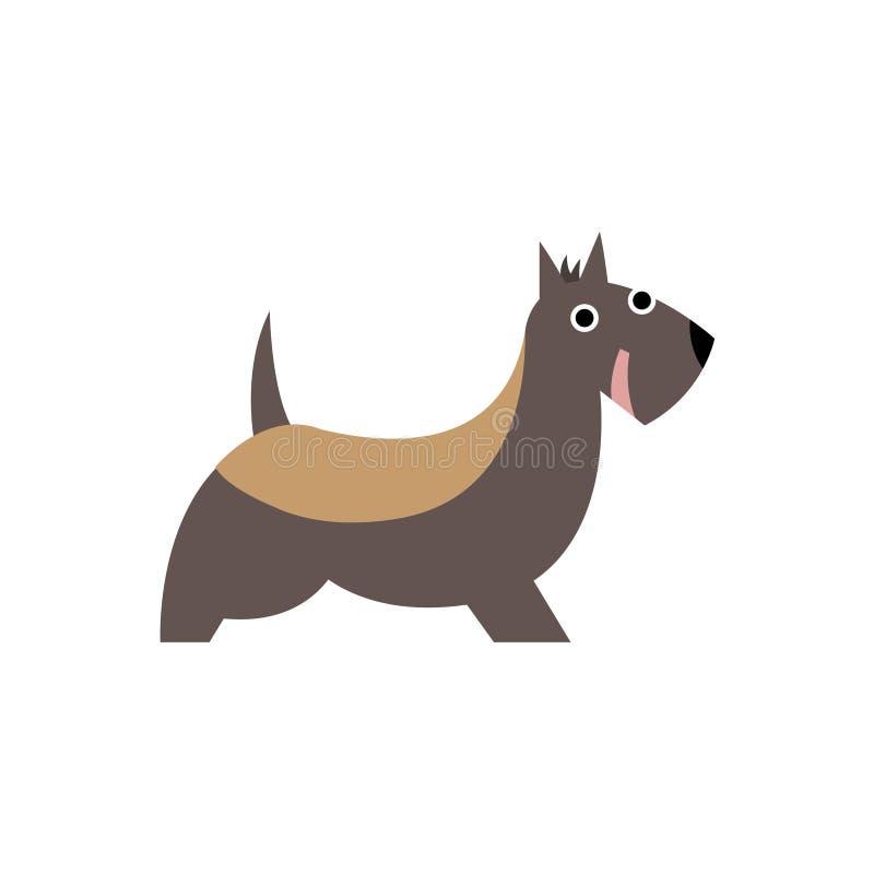 Illustration för tecknad film för avel för skotteTerrier hund primitiv stock illustrationer