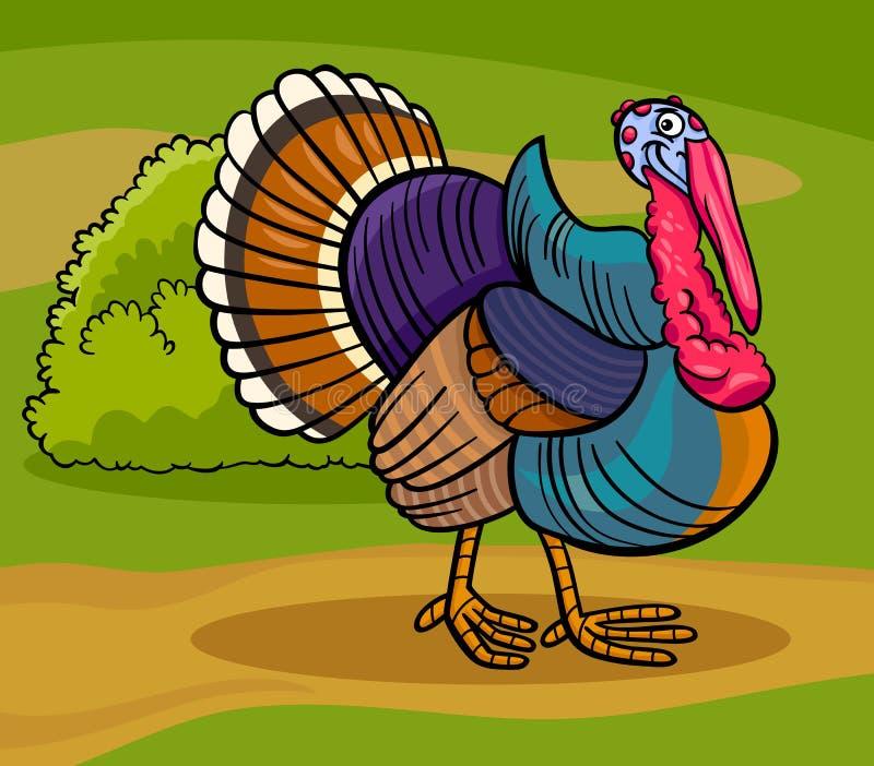 Illustration för tecknad film för Turkiet lantgårdfågel djur
