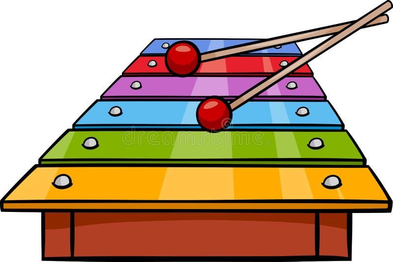 Illustration för tecknad film för xylofongemkonst royaltyfri illustrationer