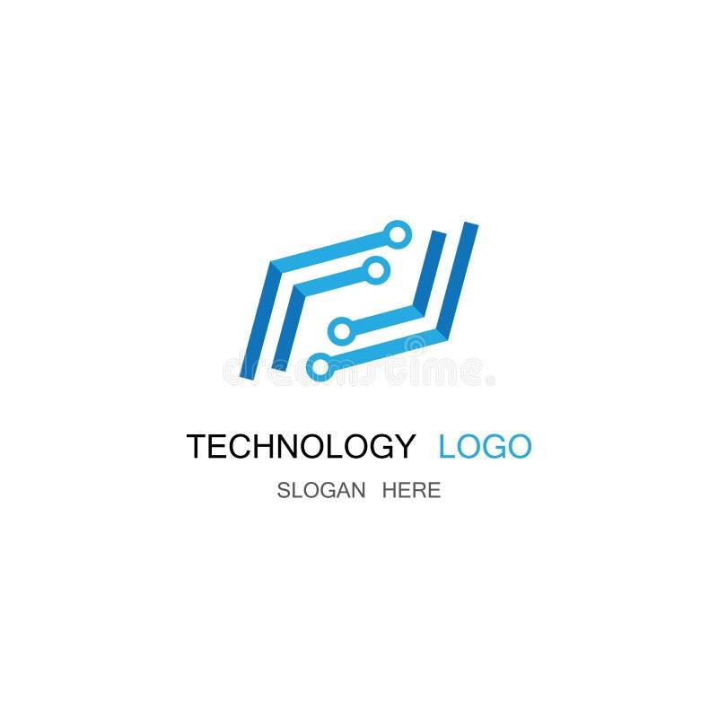 Illustration f?r teknologivektorsymbol royaltyfri illustrationer