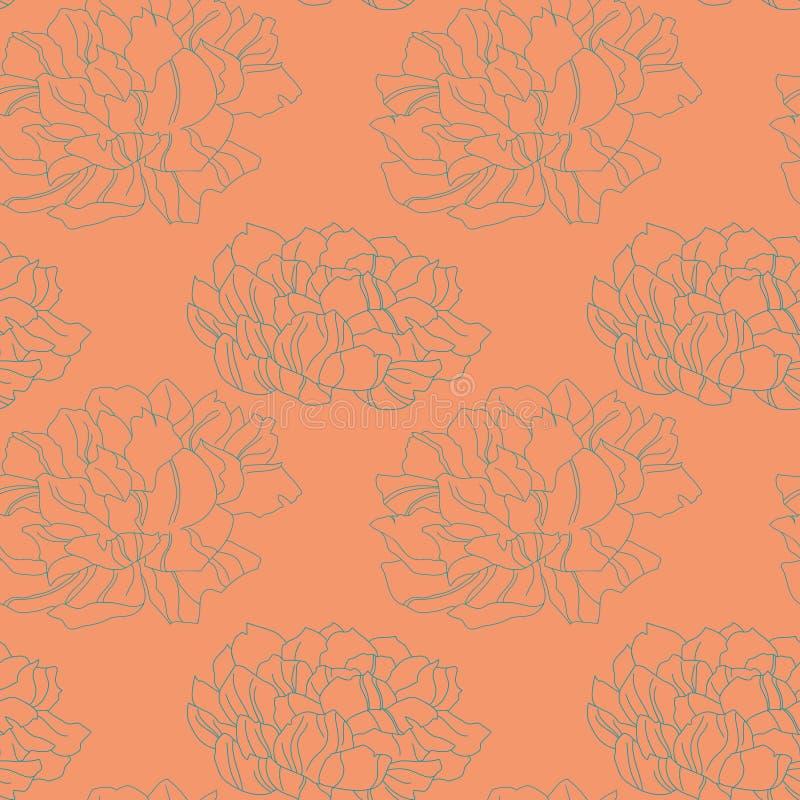 Illustration för textur för Pionblommavektor royaltyfri illustrationer