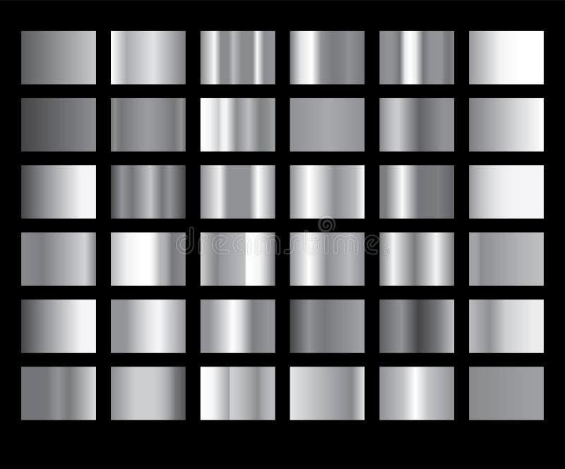 Illustration för textur för symbol för vektor för silverlutningbakgrund metallisk Sömlös modell för realistisk abstrakt design fö vektor illustrationer
