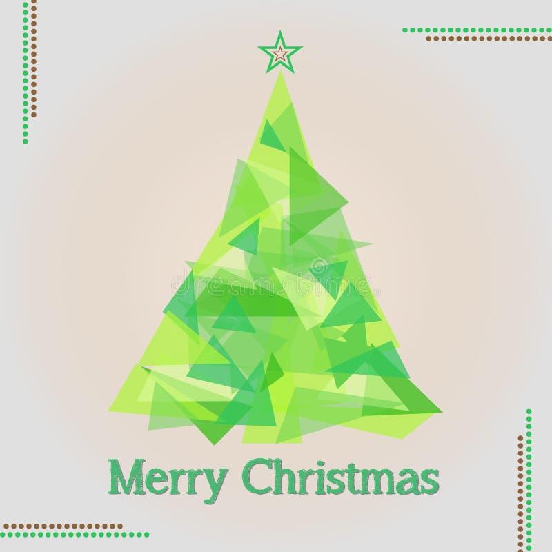 Illustration för träd för glad jul arkivfoton