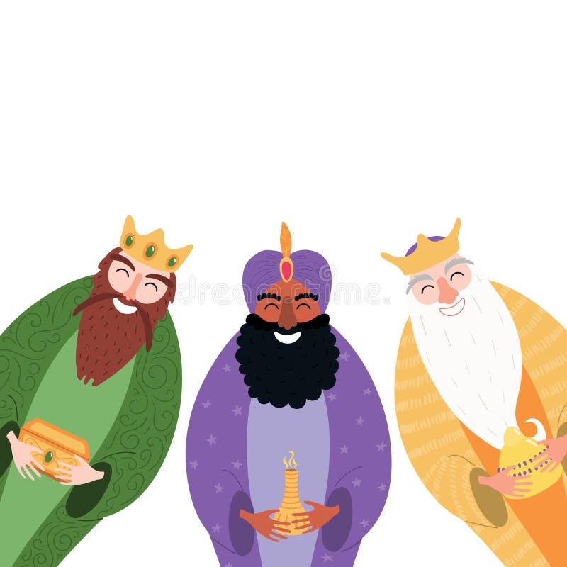 Illustration för tre konungar stock illustrationer
