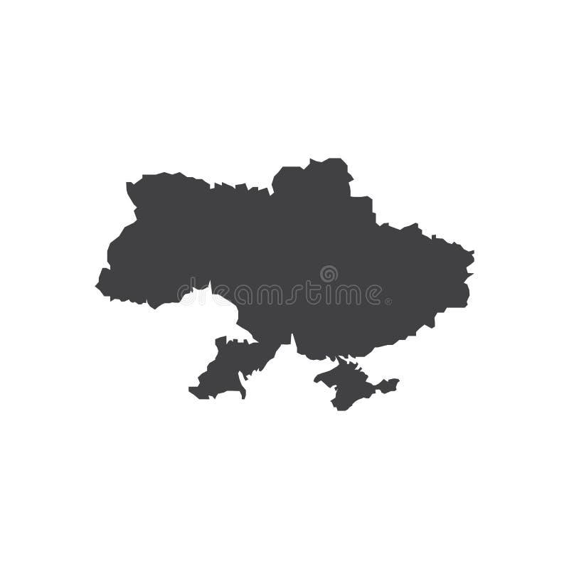 Illustration för Ukraina översiktskontur vektor illustrationer