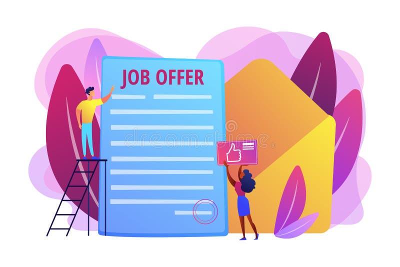 Illustration för vektor för begrepp för jobberbjudande royaltyfri illustrationer