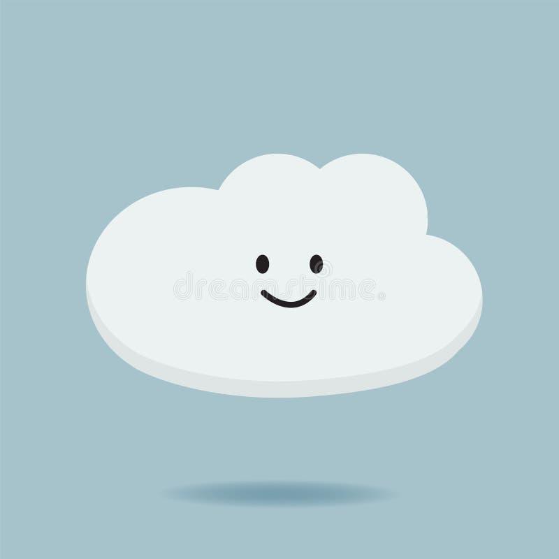 Illustration för vektor för design för moln för tecknad filmtecken stock illustrationer