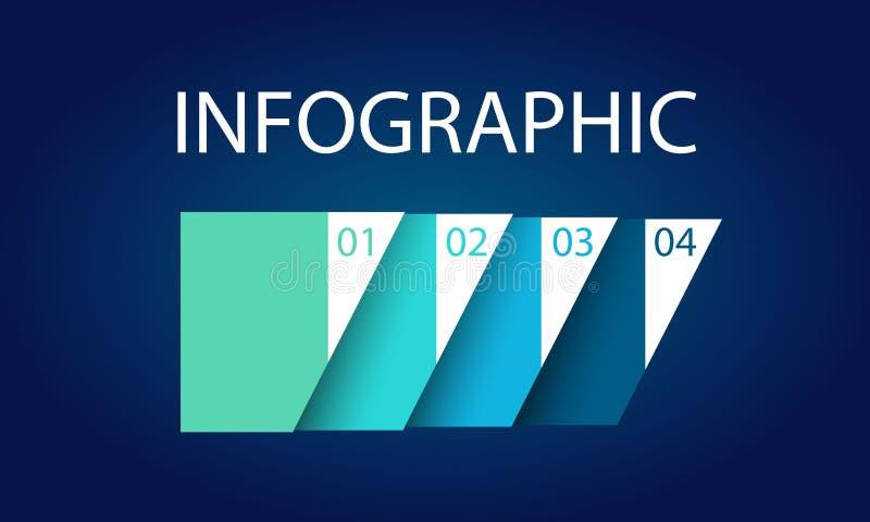 Illustration för vektor för design för presentationsmalllägenhet för advertizing för marknadsföring för rengöringsdukdesign stock illustrationer