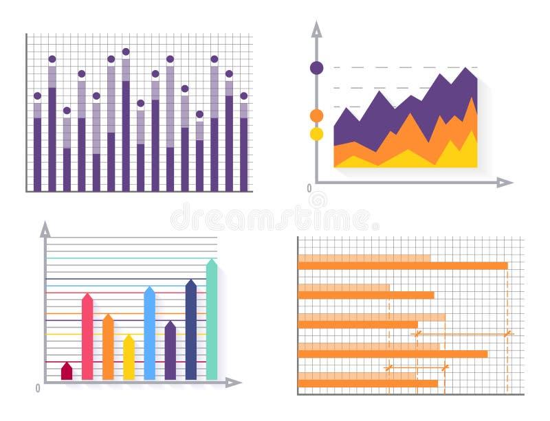 Illustration för vektor för diagramsamlingsaffisch stock illustrationer