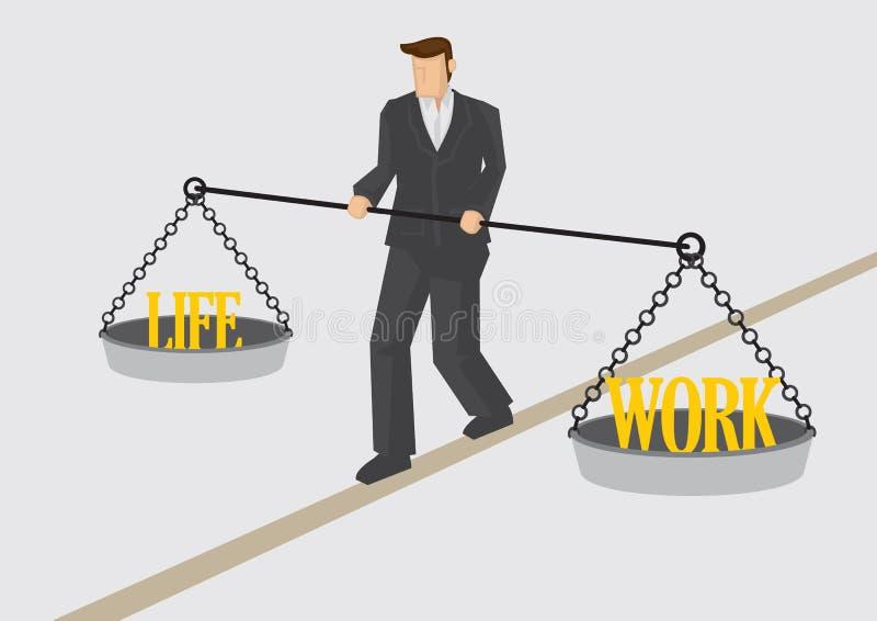 Illustration för vektor för arbetslivjämvikt begreppsmässig royaltyfri illustrationer