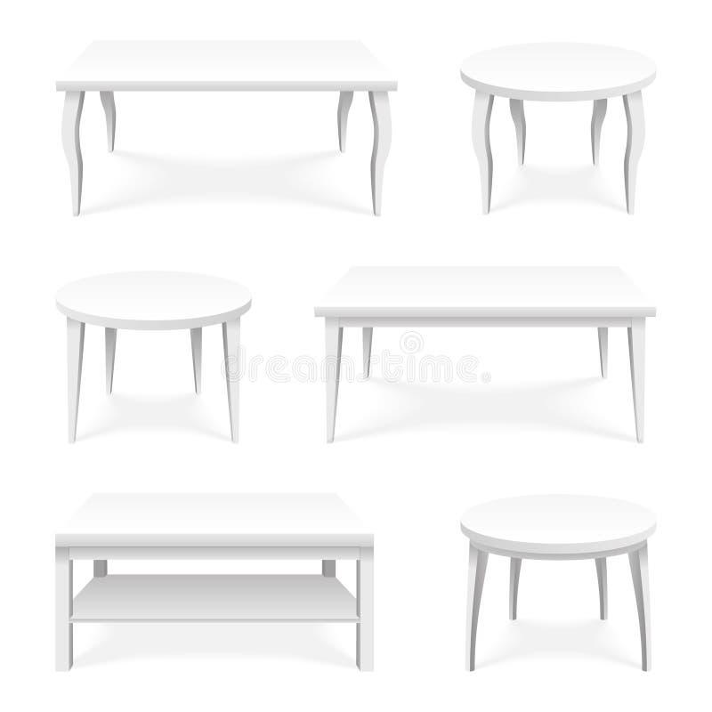 Illustration för vektor för design för mall 3d för presentation för objekt för produkt för yttersida för tabellsymbolsuppsättning royaltyfri illustrationer
