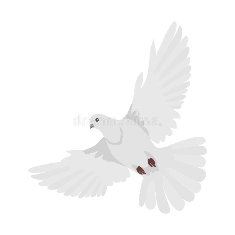 Illustration för vektor för duvalägenhetdesign stock illustrationer
