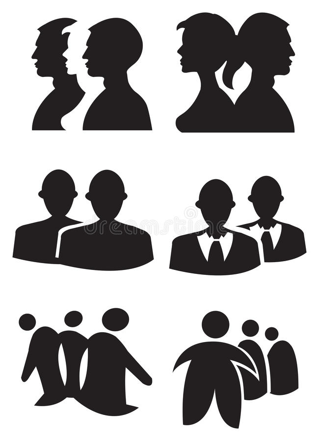 Illustration för vektor för folkkonturdesign royaltyfri illustrationer