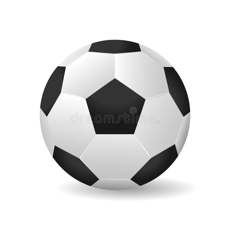 Illustration för vektor för fotbollboll royaltyfri illustrationer