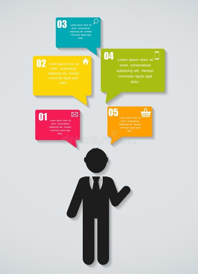 Illustration för vektor för Infographic affärsmall stock illustrationer