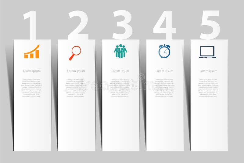 Illustration för vektor för INFOGRAPHICS-designbeståndsdelar vektor illustrationer