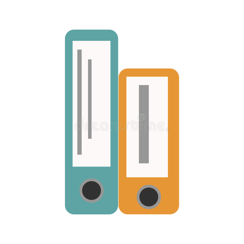 Illustration för vektor för information om datafil för bunt för mellanrum för arkiv för organisation för dokument för kontorsmapp royaltyfri illustrationer
