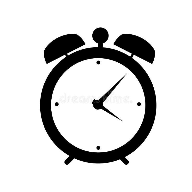 Illustration för vektor för klockalarmsymbol stock illustrationer