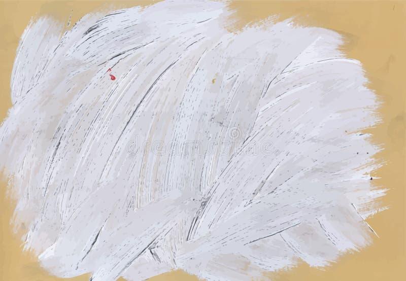 Illustration för vektor för kludd för vattenfärg för grå färgabstrakt begrepp hand målad royaltyfri illustrationer