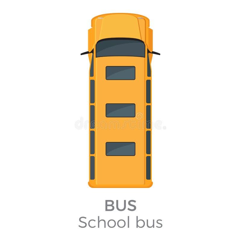 Illustration för vektor för lägenhet för bästa sikt för skolbusssymbol vektor illustrationer