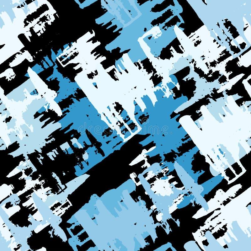 Illustration för vektor för modell för kulöra grafitti för Grunge sömlös stock illustrationer