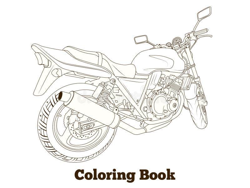 Illustration för vektor för moped för färgläggningbok stock illustrationer
