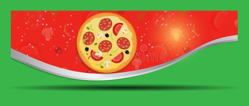 Illustration för vektor för pizzamenymall vektor illustrationer